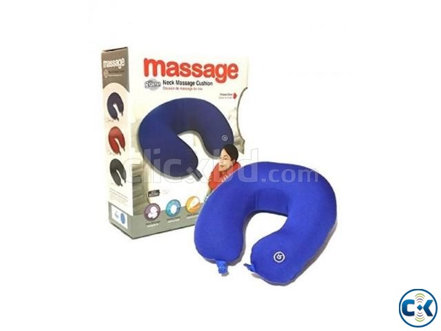 Travel Pillow Vibrating Neck Massager Pillow. | ClickBD large image 0