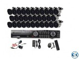 32 CCTV Camera Package Live Monitor