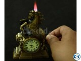 Antic horse clock With lighter 02 Antic horse clock With li