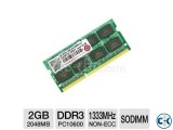 2GB Transcend DDR3 SO-DIMM 1066MHz laptop memory module