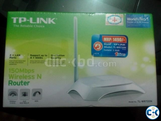 TP-Link TL-WR720N Wireless Router | ClickBD large image 1