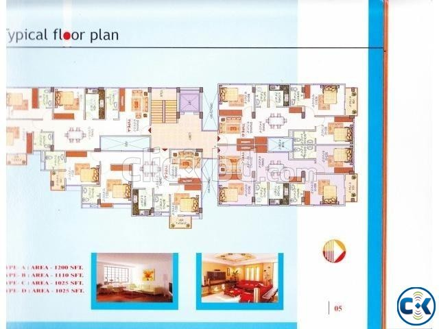 Beautiful Flat B-1110sqft Badda | ClickBD large image 1