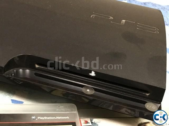 PS3 250 gb black with 2 controller and 7 original games | ClickBD large image 1