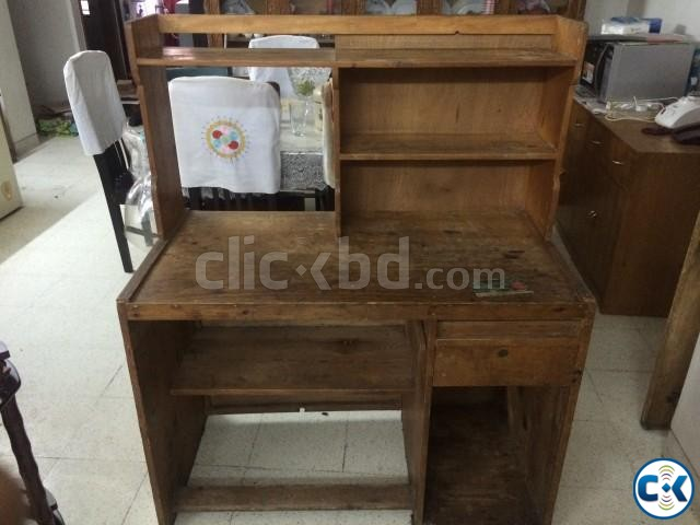 Wooden Study Table | ClickBD large image 1