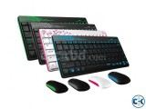 Rapoo 8000 Slim 2.4G Wireless Keyboard and Mouse Combo