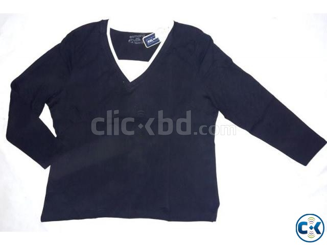 Ladies Long Sleeve T-Shirt | ClickBD large image 2