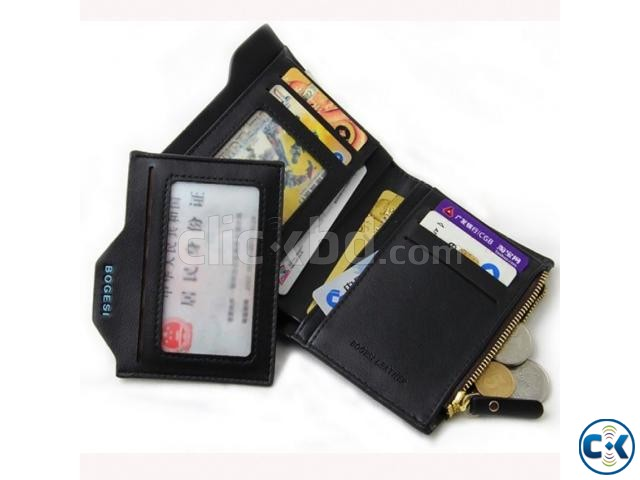 BOGESI Casual Black Genuine Leather Wallet | ClickBD large image 1
