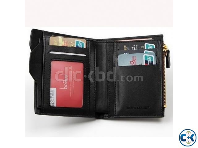 BOGESI Casual Black Genuine Leather Wallet | ClickBD large image 2