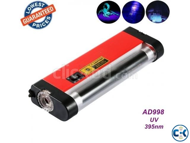 Portable uv light money detector with torch | ClickBD large image 1