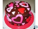Crazy Heart Cake For Valentiens Day