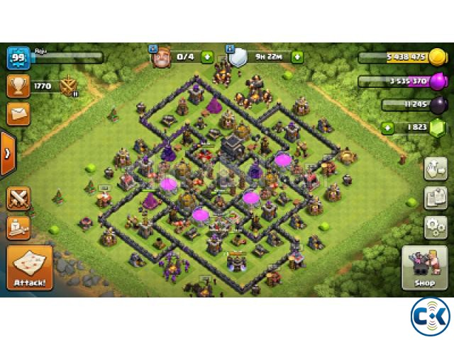 Clash of Clans COC max TownHall 9 | ClickBD large image 0