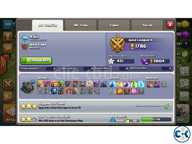 Clash of Clans COC max TownHall 9 | ClickBD large image 2