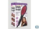 Simply Straight Ceramic Brush Hair Straightener HG01