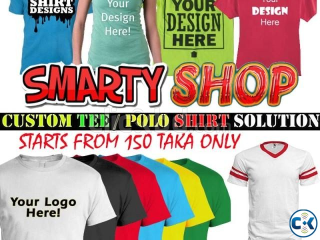 Custom T Polo Shirt Printing in BD | ClickBD large image 1