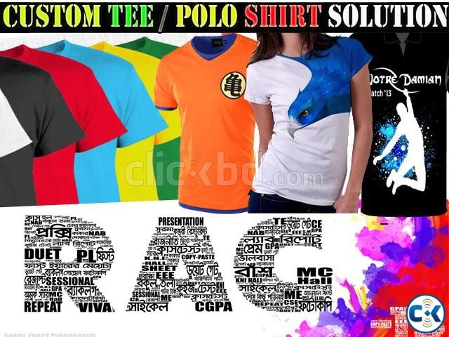 Custom T Polo Shirt Printing in BD | ClickBD large image 2