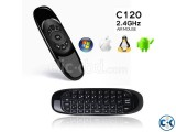 C120 2.4GHz Mini Wireless Air Mouse with QWERTY Keyboard S