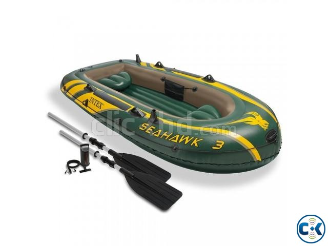 Intex Seahawk 3 Inflatable Boat Latest Model  | ClickBD large image 0