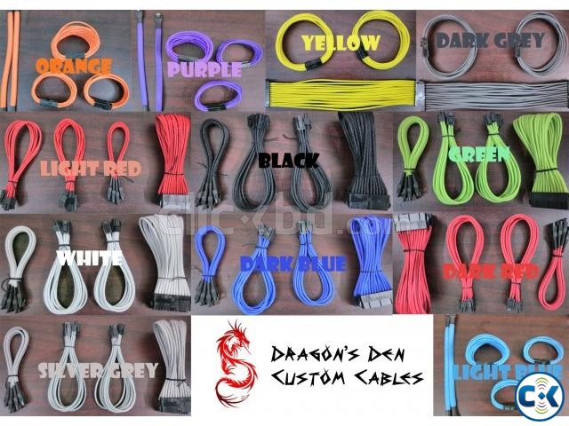 Custom color sleeve cables set - Bangladesh | ClickBD large image 0