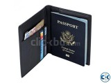 Leather Passport Cover Holder