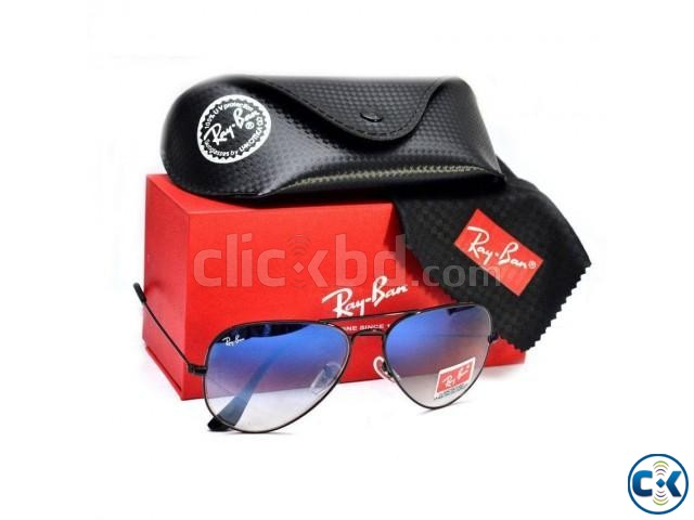 Rayban Aviator Black Frame Sunglasses For Men | ClickBD large image 0