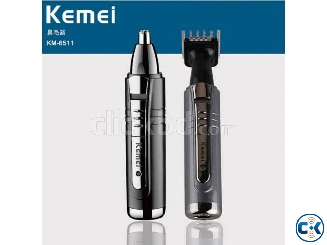 Kemei Km-6511 2 In 1 Nose Trimmer | ClickBD large image 0