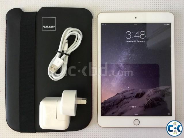 Apple iPad mini 3 64GB Wi-Fi 4G 7.9in - Gold | ClickBD large image 0