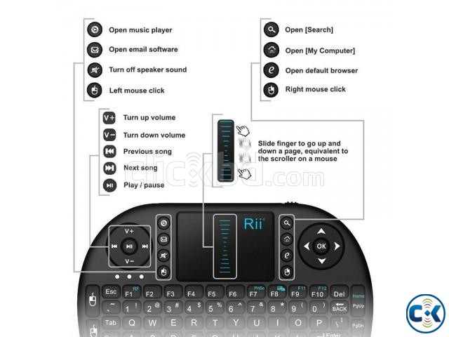 Rii I8 Mini 2.4Ghz Wireless combo Keyboard | ClickBD large image 1
