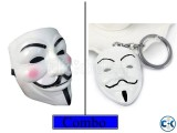 Vendetta Mask Hacker Mask Keyring Combo