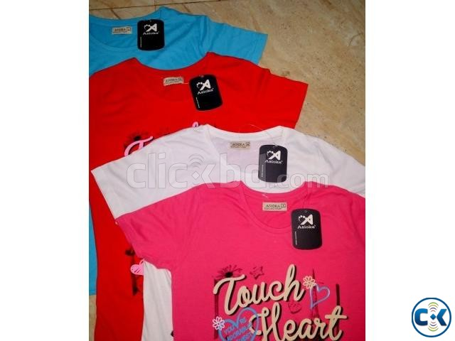 Ladies T-Shirt Stock lot | ClickBD large image 2