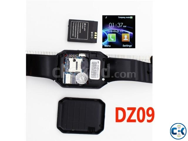 Mobile Watch DZ09 single sim intact Box | ClickBD large image 1