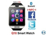 Q18s Sim supported Smart Watch Sim Gear intact Box