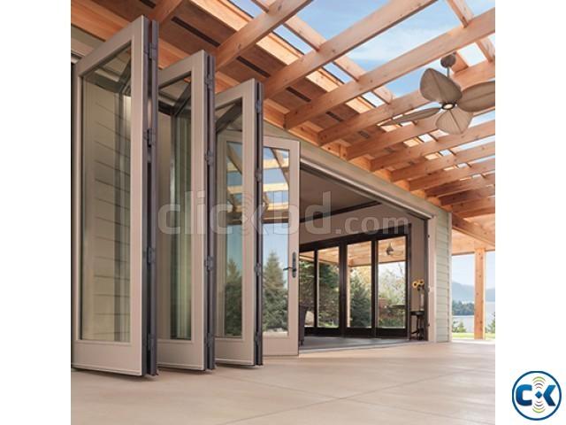 Bi-Folding door Wooden office or flat | ClickBD large image 0