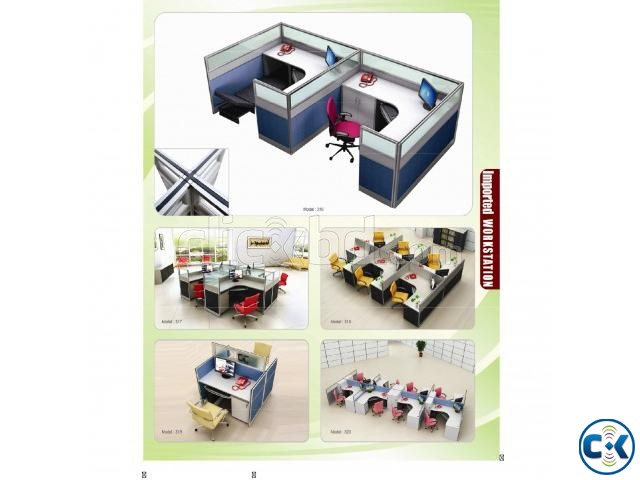 Work station office interior decoration | ClickBD large image 0
