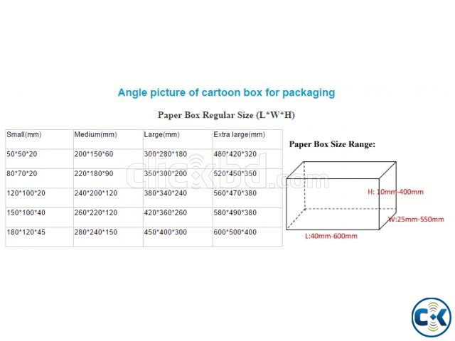 paper cartoon box for packaging | ClickBD large image 4