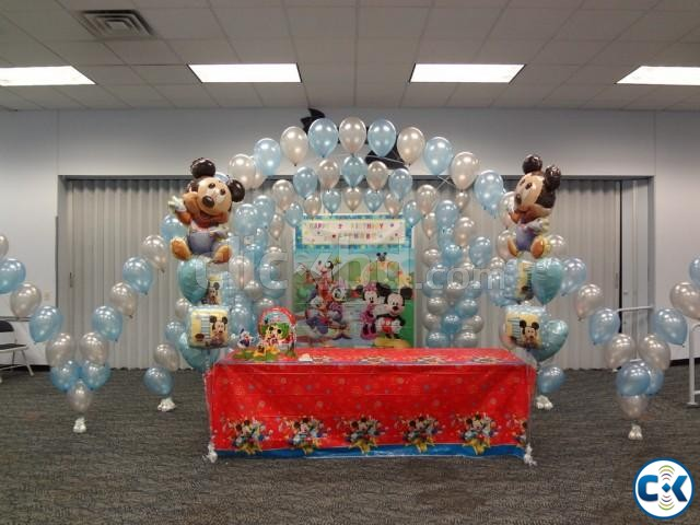 Balloon Decoration Birthday party | ClickBD large image 2