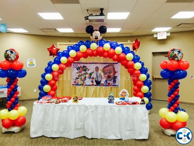 Balloon Decoration Birthday party | ClickBD large image 4