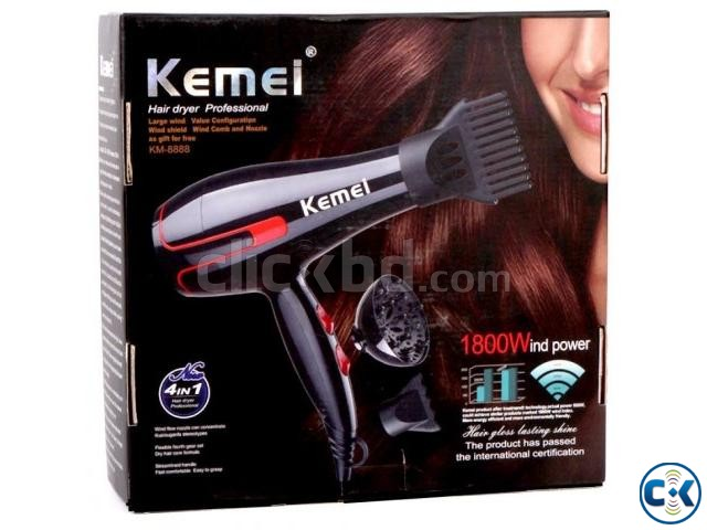 Kemei Profeesional Hair Dryer KM-8888 Red | ClickBD large image 0