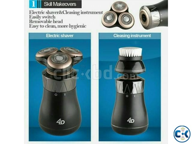 4D Rechargeable Electric Shaver Floating Razor S8862 | ClickBD large image 0
