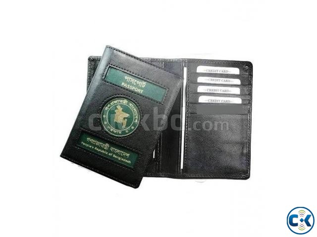 Genuine Black Leather Passport Cover | ClickBD large image 0