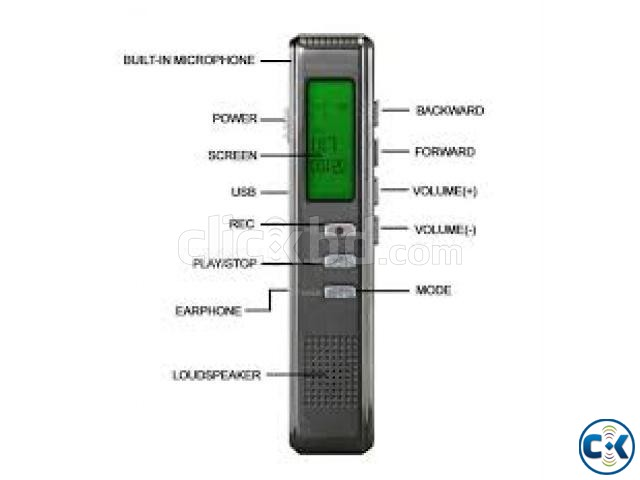 Voice recorder With Mp3 player 8GB storage intact Box | ClickBD large image 0