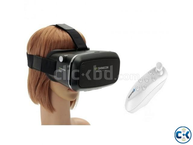 Vr Shinecon 3D VR Hd Glasses with Remote | ClickBD large image 0