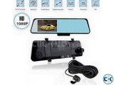 Car Rearview Mirror DVR Camera Recorder Dual lens