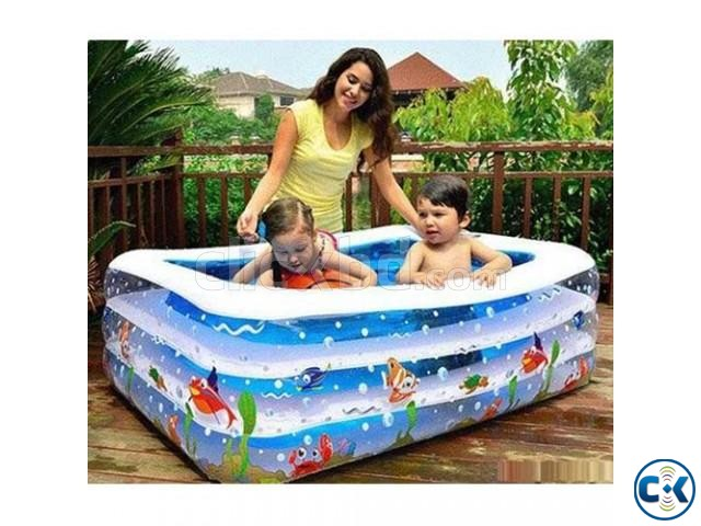 Original INFLATABLE BABY SWIMMING POOL with e-pumper | ClickBD large image 0