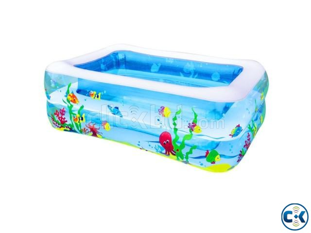 Original INFLATABLE BABY SWIMMING POOL with e-pumper | ClickBD large image 3