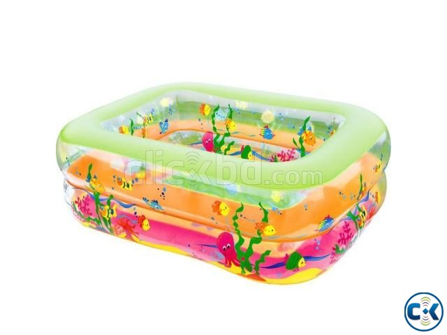 Original INFLATABLE BABY SWIMMING POOL with e-pumper | ClickBD large image 4