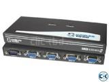 CC TV Output 8-Port VGA Audio Splitter