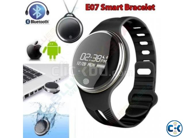 E07 Smart Band Waterproof Bluetooth Fitness Tracker intact | ClickBD large image 0