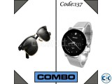 Combo of Men s Bariho Watch Ray Ban Sunglasses