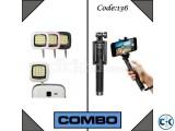 Combo Offer- Bluetooth Selfie Stick LED Flash Light