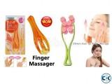 Mini Finger Massager Flower Face Up Roller Massage Slimmin